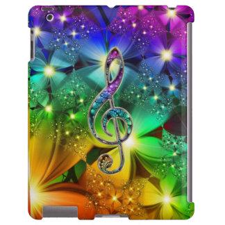 Caso psicadélico do iPad do Clef da música do Capa Para iPad