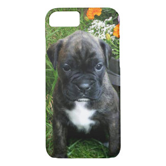 Caso rajado do iphone 7 do filhote de cachorro do capa iPhone 7