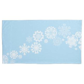 Caso-Rei Tamanho do travesseiro dos flocos de neve