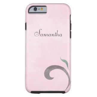 Caso resistente desvanecido do caso cor-de-rosa do capa tough para iPhone 6