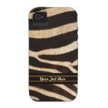 Caso resistente do iPhone 4 da listra da zebra - p Capa Para iPhone 4