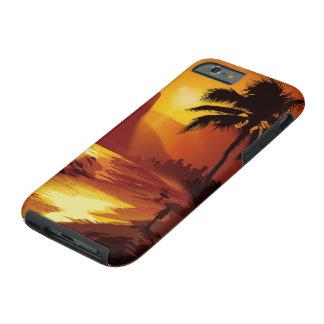 Caso resistente do iPhone 6 da praia de Copacabana Capa Tough Para iPhone 6