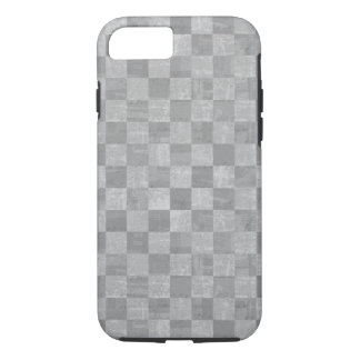 Caso resistente do iPhone 7 do Grunge Checkered Capa iPhone 7