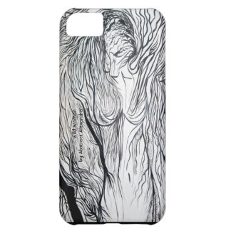 Caso selvagem do iPhone 5 da mulher Capa Para iPhone 5C