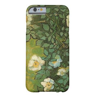 Caso selvagem do iPhone 6 dos rosas de Van Gogh Capa Barely There Para iPhone 6