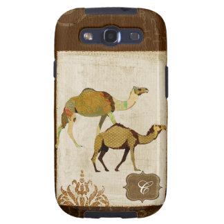 Caso sonhador do monograma dos camelos capas personalizadas samsung galaxy s3
