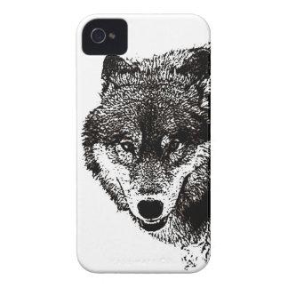 Caso universal selvagem do iPhone 4 do lobo mal lá Capa Para iPhone