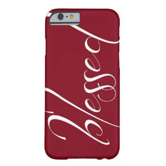 Caso vermelho escuro abençoado do iPhone 6 da Capa Barely There Para iPhone 6