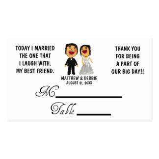 Casou meu melhor amigo que Wedding Placecards Modelos Cartão De Visita
