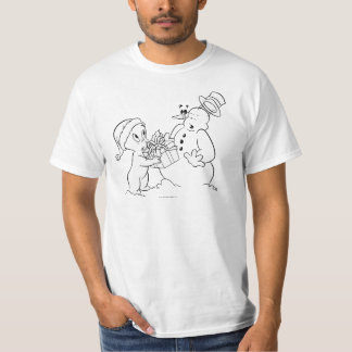 Casper e boneco de neve camiseta