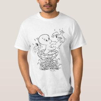 Casper no banho do pássaro camiseta