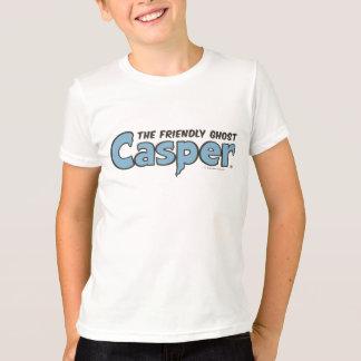 Casper o logotipo azul 2 do fantasma amigável camiseta