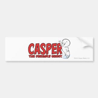 Casper o logotipo vermelho 2 do fantasma amigável adesivo para carro