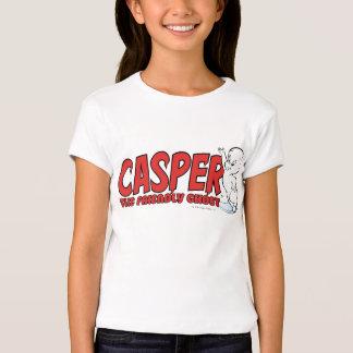 Casper o logotipo vermelho 2 do fantasma amigável camiseta