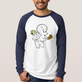Casper que joga o basebol camiseta