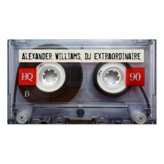 Cassete de banda magnética Extraordinaire do DJ Modelo Cartao De Visita