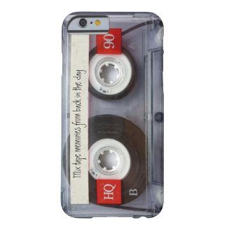 Cassete de banda magnética retro capa barely there para iPhone 6