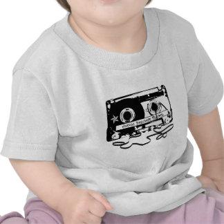 Cassete de banda magnética retro do anos 80 camisetas