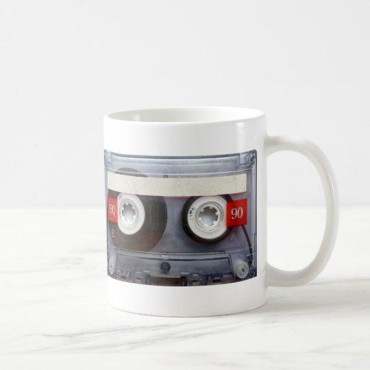 Cassete de banda magnética retro do divertimento caneca de café