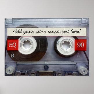 Cassete de banda magnética retro do divertimento