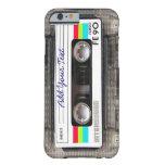 Cassete de banda magnética retro engraçada de capa barely there para iPhone 6