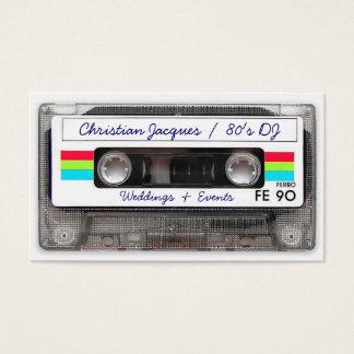 Cassete de banda magnética retro legal de música cartão de visitas
