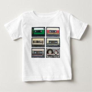 Cassetes de banda magnética camiseta para bebê