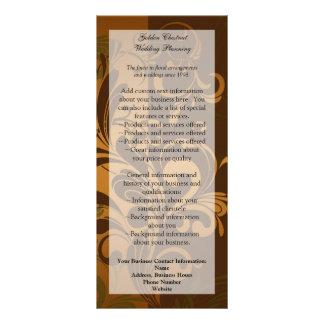 Castanha Brown/ouro/cartão/menu/programa verdes da 10.16 X 22.86cm Panfleto