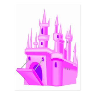 Castelo cor-de-rosa do casamento do conto de fadas cartões postais