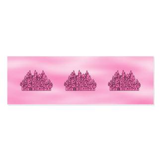Castelo cor-de-rosa do conto de fadas cartão de visita skinny