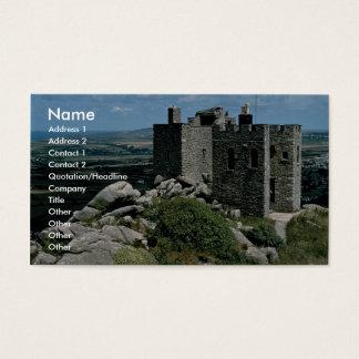 Castelo de Brea do Carn no Riviera Cornish Cartão De Visitas