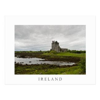 Castelo de Dunguaire, cartão branco do texto de