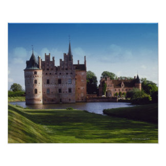 Castelo de Egeskov, Dinamarca Poster