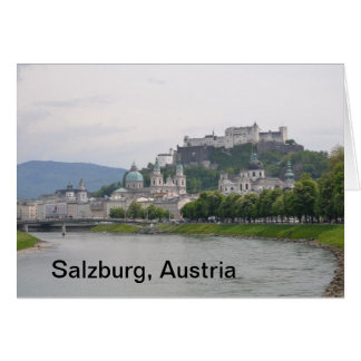 Castelo de Hohensalzburg, cartão de nota de