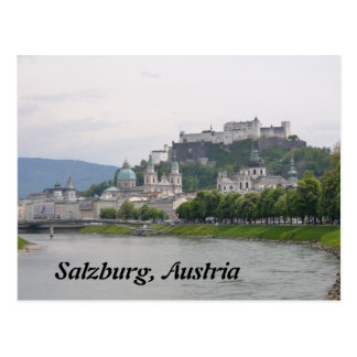 Castelo de Hohensalzburg, cartão de Salzburg,