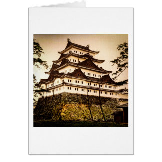 Castelo de Nagoya no 名古屋城 antigo do vintage de Cartão Comemorativo
