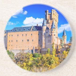 Castelo de Segovia da porta copos da bebida do