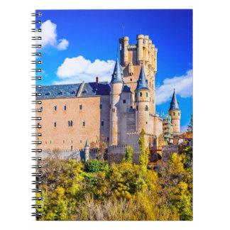 Castelo de Segovia do caderno da foto