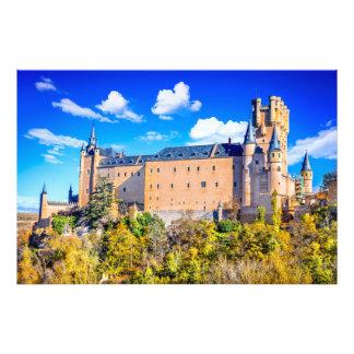 Castelo de Segovia do impressão da foto