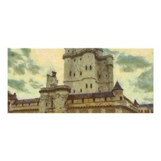 Castelo de Vincennes, pintura de Paris Panfleto