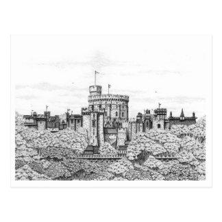 Castelo de Windsor da fantasia - cartão vazio