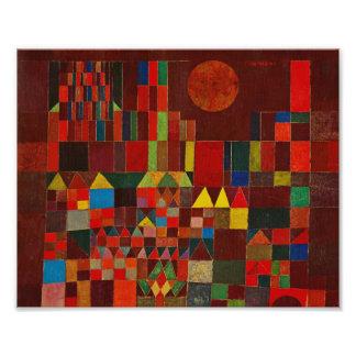Castelo e Sun de Paul Klee Impressão De Foto