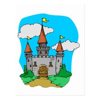 Castelo medieval cartao postal