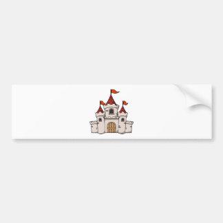 Castelo medieval dos desenhos animados vermelhos e adesivo para carro