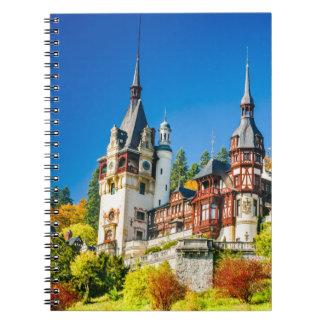 Castelo Sinaia de Peles do caderno da foto