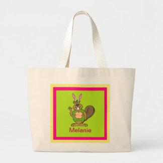 Castor da páscoa - personalize bolsa para compras