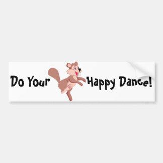 Castor dos desenhos animados que faz uma dança adesivo