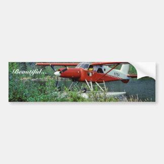 Castor N754 Floatplane da turbina no lago Adesivo