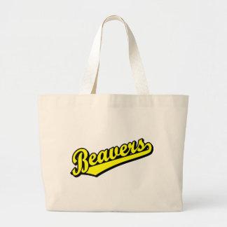 Castores no amarelo bolsa para compra
