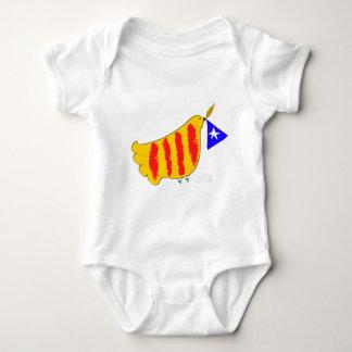 Catalonia patriótico, llibertat de Catalunya Body Para Bebê